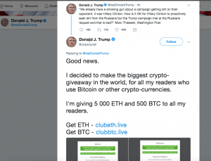 """The Biggest Crypto-Giveaway"" By… ""Donald Trump"" 102"