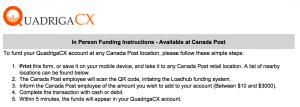 Nous avons testé le dépôt sur un exchange crypto... via Postes Canada 102