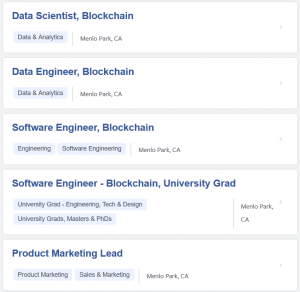 Facebook Prefers AI to Blockchain, Job Postings Show 102