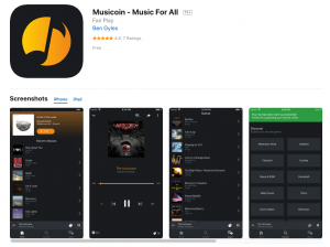 Musicoin lance son application mobile 101
