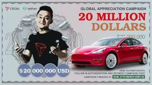 Tron Founder Justin Sun to Spend USD 20m on New Twitter Followers 102