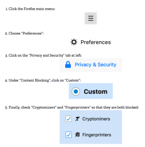 Firefox chasse les scripts cryptos illicites 101