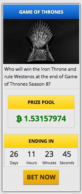 Parier en cryptomonnaies sur Game of Thrones, c'est possible 101