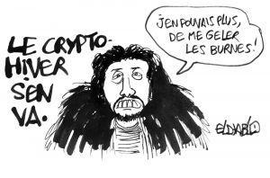 Le dessin de Boris Eldiablo sur la fin de l'hiver crypto GOT