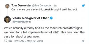 Ether schwankt obwohl Ethereum Foundation 'seinen Fokus verfeinert' 103