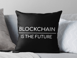 Crypto Shopping du dimanche: Coussin Blockchain 101