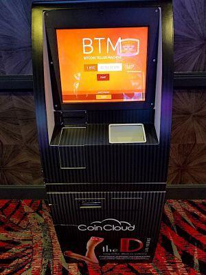 Le guichet automatique Coin Cloud de l'hôtel D Las Vegas