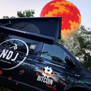 Le véhicule de la Famille Bitcoin. Photo: Famille Bitcoin