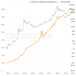 Pre-crash Data: Number of Addresses with 1 Bitcoin Hit All-Time High 102