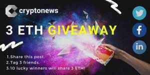 Cryptonews ETH giveaway