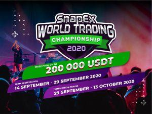 SnapEx Announces World Trading Championship Season 2 with 200,000 USDT Prize Pool for 500... 101