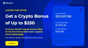 BlockFi offre jusqu'à 250$ en stablecoin (USDC) aux nouveaux inscrits 101
