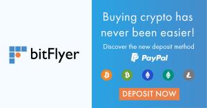Les utilisateurs de bitFlyer en Europe peuvent désormais utiliser PayPal 101