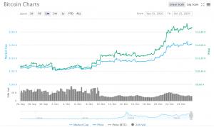 Bitcoin à plus de 13 000$ / Source: CoinMarketCap