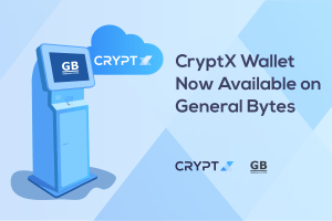 CryptX Wallet Option Now Available on General Bytes BATM 101