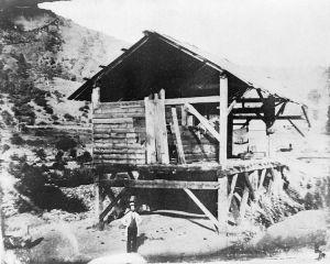 La scierie de Sutter's Mill où la première pépite a été trouvée