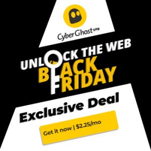 Black Friday: rabais de 83% sur le VPN CyberGhost, idéal pour rester anonyme dans la cryptosphère