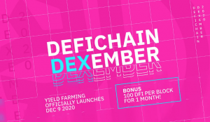 DeFiChain Announces Yield Farming Launch and DEXember 100X Promotion 101