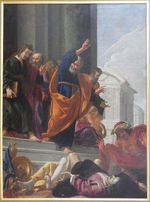 Un des « Mays »: La mort de Saphire et Ananias / Wikipedia