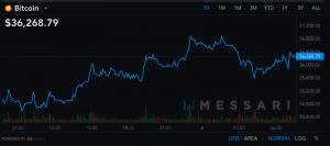 Le prix du Bitcoin au-dessus des 36 000$, Ethereum à son plus haut 102
