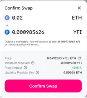 使用uniswap第五步