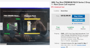 Second-Hand NFT Market for NBA Top Shot Packs Appears on eBay 102