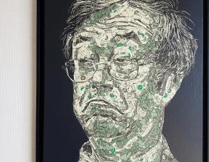 Art: achetez le portrait de Julian Assange en dollars avec du Bitcoin (BTC) 104