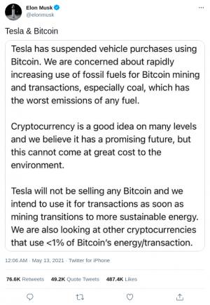 Tesla n'accepte plus le Bitcoin, Musk mise sur le Dogecoin 101