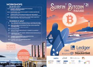Surfin' Bitcoin 21 : programme de la conférence 100% Bitcoin 102