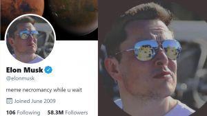 Elon Musk photo de profil Twitter