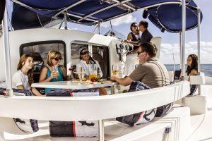 Family Enjoying Moana Cancun Catamaran excursion