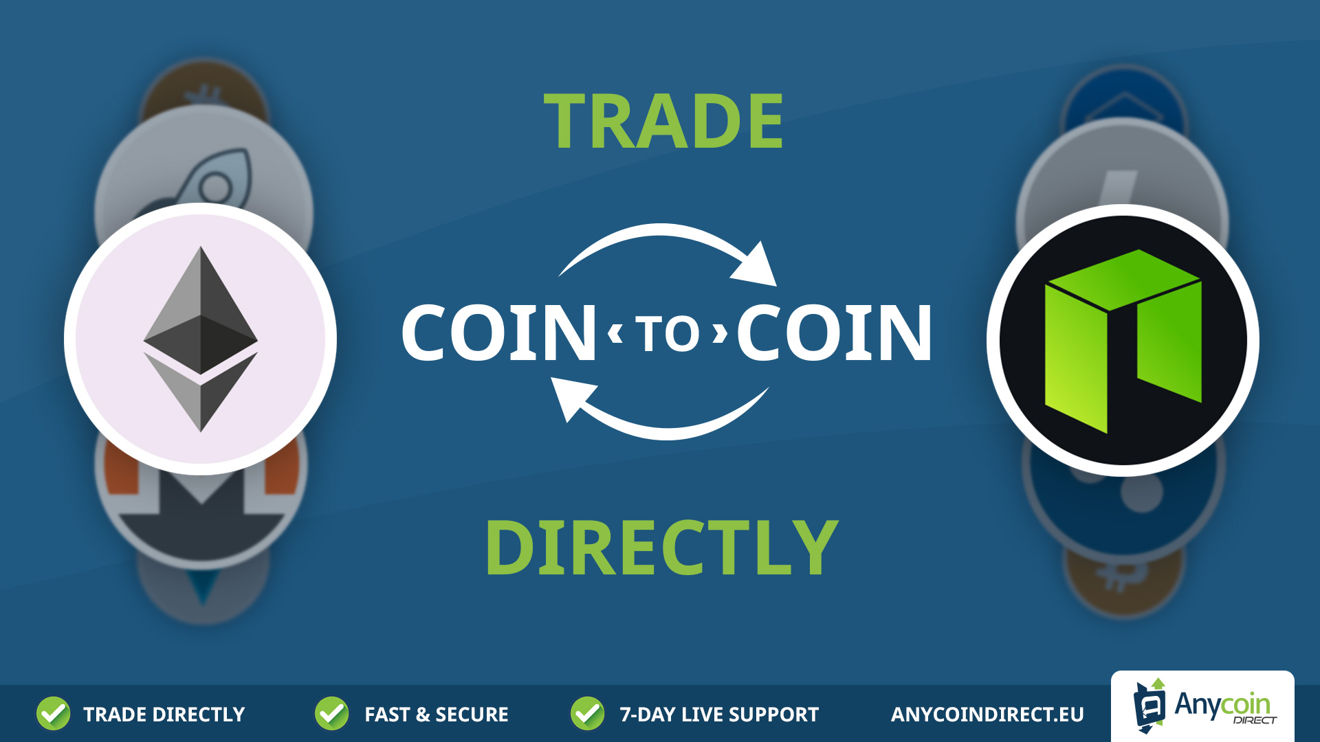 Anycoin Direct voegt nieuwe service toe: Coin-to-Coin traden 0001