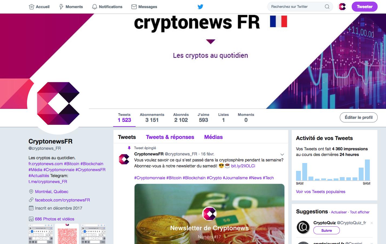 Cryptonews a testé le pourboire en Bitcoin sur Twitter 0001