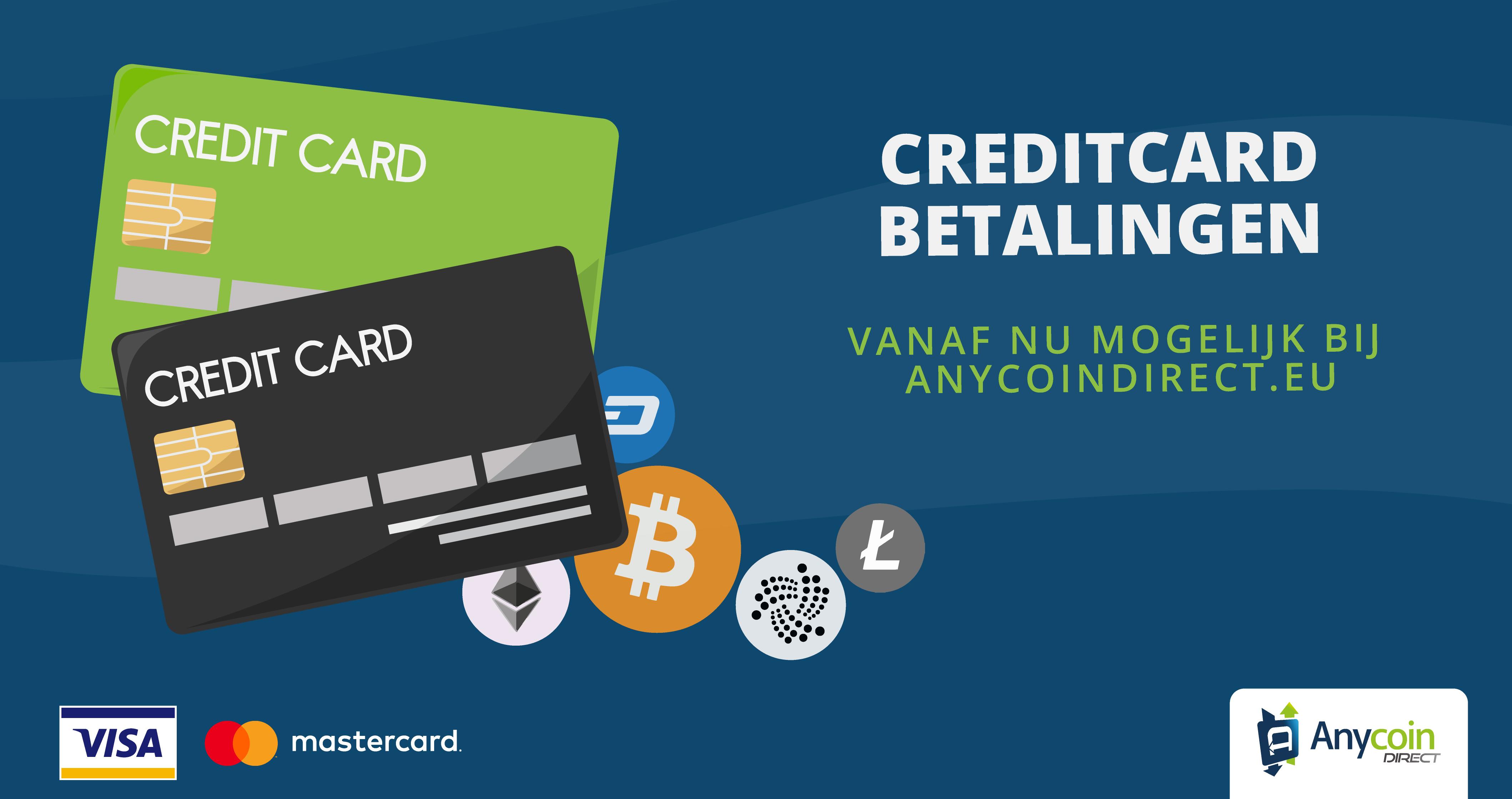 Anycoin Direct voegt creditcard betalingen toe aan haar handelsplatform
