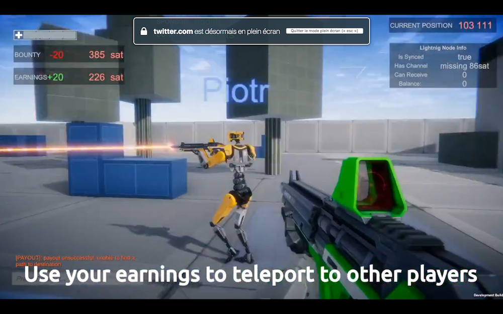 Un jeu de tir à la première personne (FPS) permet aux joueurs de gagner du Bitcoin 0001