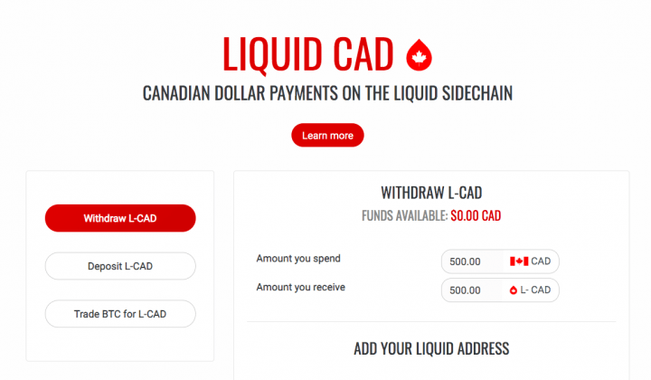 Liquid Cad Canadian Dollar Payments On