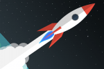 fusée en vol