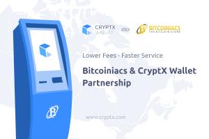 Bitcoiniacs and CryptX Wallet Announce Partnership
