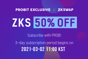 With USD 190M TVL in Just 10 Days after Mainnet Launch, ZKswap Prepares for ProBit Exclusive Feature March 2
