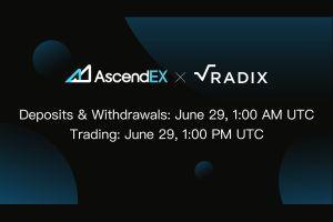 AscendEX Lists Radix, a DeFi Protocol with Developer Incentives