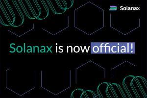 Solanax Now Officially Part of Solana Ecosystem! Jump Into Solanax IEO