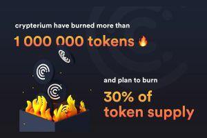 Crypterium - One Of The Largest Crypto Banks Burns 1M CRPT Tokens