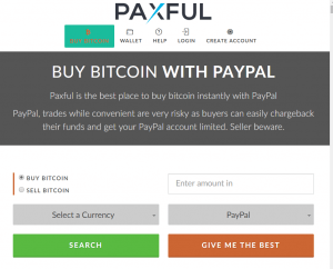 Buy Bitcoin with Paypal via Paxful