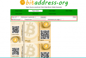 generating bitcoin paper wallet
