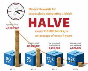 Bitcoin block halving graph