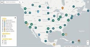 Bitcoin ATM US MAP