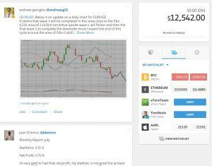 eToro news feed