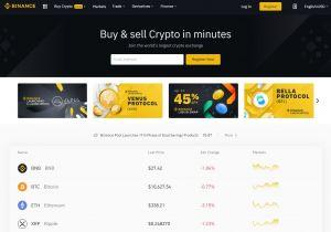 Binance's homeapge