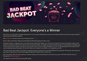 coinpoker bad beat jackpot