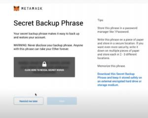 metamask backup